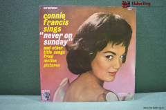 "Винил 1 LP Connie Francis Sings ""Never On Sunday"". India. Индия."